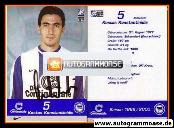 Autogramm Fussball   Hertha BSC Berlin   1999   Kostas KONSTANTINIDIS