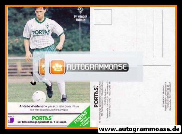 Autogramm Fussball   SV Werder Bremen   1989   Andree WIEDENER