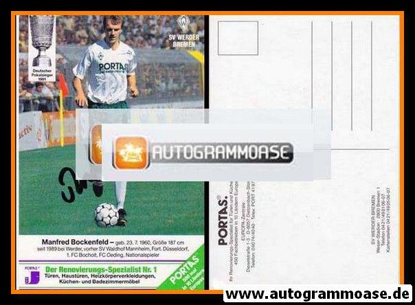 Autogramm Fussball | SV Werder Bremen | 1991 | Manfred BOCKENFELD