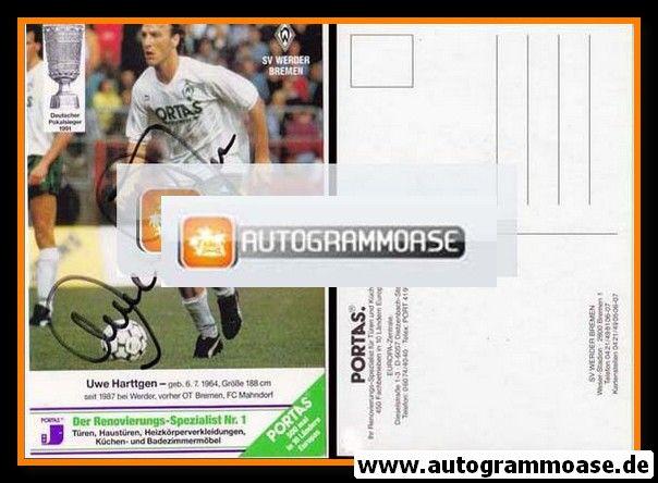 Autogramm Fussball   SV Werder Bremen   1991   Uwe HARTTGEN