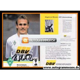 Autogramm Fussball | SV Werder Bremen | 1992 | Bernd HOBSCH