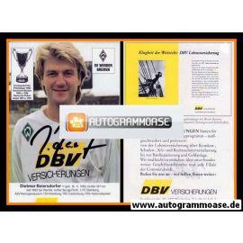 Autogramm Fussball | SV Werder Bremen | 1992 | Dietmar BEIERSDORFER