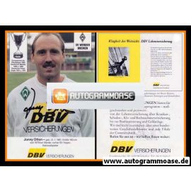 Autogramm Fussball | SV Werder Bremen | 1992 | Jonny OTTEN