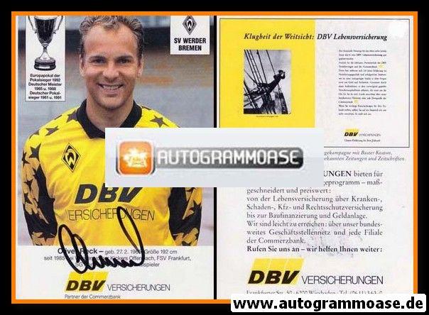 Autogramm Fussball | SV Werder Bremen | 1992 | Oliver RECK