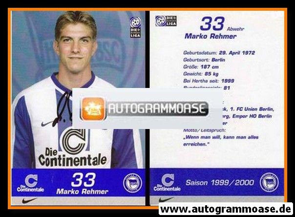 Autogramm Fussball | Hertha BSC Berlin | 1999 | Marko REHMER