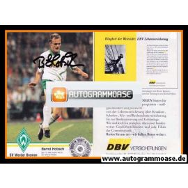 Autogramm Fussball | SV Werder Bremen | 1993 NAV | Bernd HOBSCH