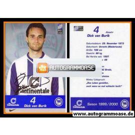 Autogramm Fussball   Hertha BSC Berlin   1999   Dick VAN BURIK