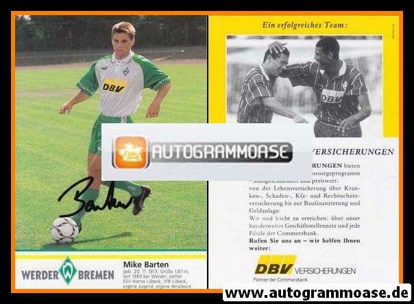 Autogramm Fussball | SV Werder Bremen | 1995 | Mike BARTEN