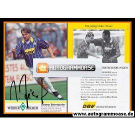Autogramm Fussball | SV Werder Bremen | 1995 | Dietmar BEIERSDORFER
