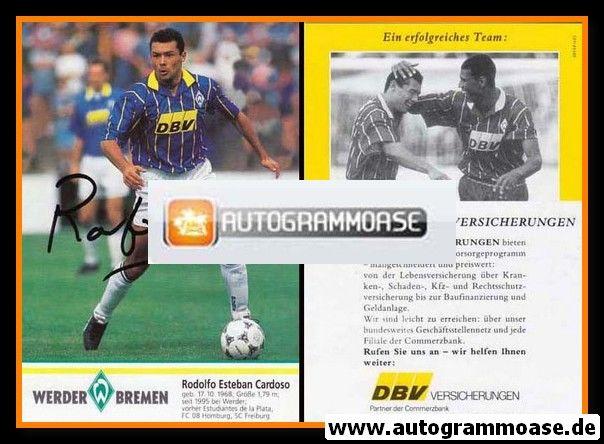 Autogramm Fussball | SV Werder Bremen | 1995 | Rodolfo CARDOSO