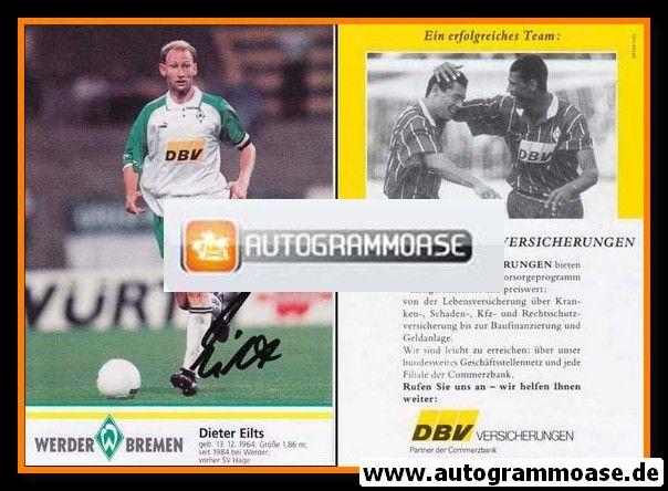 Autogramm Fussball | SV Werder Bremen | 1995 | Dieter EILTS