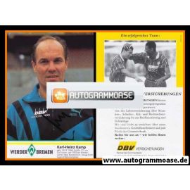 Autogramm Fussball | SV Werder Bremen | 1995 | Karl-Heinz KAMP