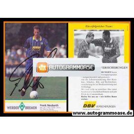 Autogramm Fussball | SV Werder Bremen | 1995 | Frank NEUBARTH