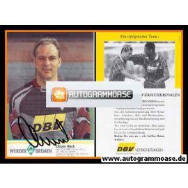 Autogramm Fussball | SV Werder Bremen | 1995 | Oliver RECK