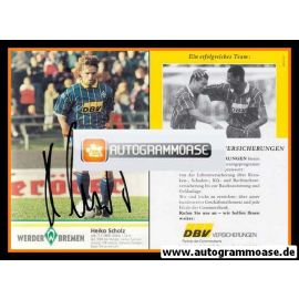 Autogramm Fussball | SV Werder Bremen | 1995 | Heiko SCHOLZ (Spielszene)