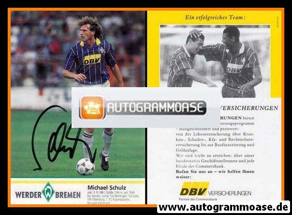 Autogramm Fussball | SV Werder Bremen | 1995 | Michael SCHULZ