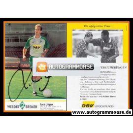 Autogramm Fussball | SV Werder Bremen | 1995 | Lars UNGER