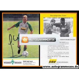 Autogramm Fussball   SV Werder Bremen   1995   Arie VAN LENT