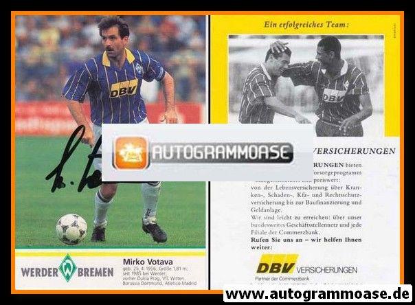Autogramm Fussball | SV Werder Bremen | 1995 | Mirko VOTAVA