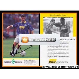 Autogramm Fussball | SV Werder Bremen | 1995 | Andree WIEDENER