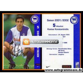 Autogramm Fussball | Hertha BSC Berlin | 2001 o.tel.o | Kostas KONSTANTINIDIS