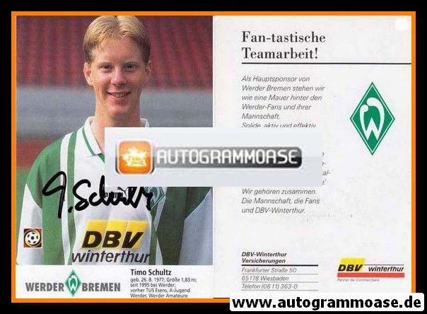 Autogramm Fussball | SV Werder Bremen | 1996 | Timo SCHULTZ