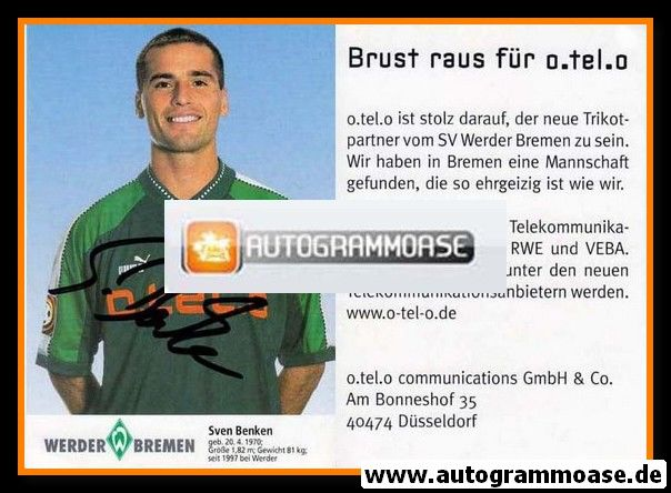 Autogramm Fussball | SV Werder Bremen | 1997 blau | Sven BENKEN