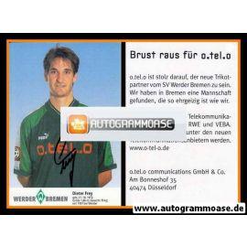 Autogramm Fussball | SV Werder Bremen | 1997 blau | Dieter FREY
