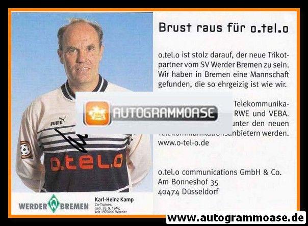 Autogramm Fussball   SV Werder Bremen   1997 blau   Karl-Heinz KAMP