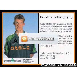 Autogramm Fussball   SV Werder Bremen   1997 blau   Matthias PLUMP