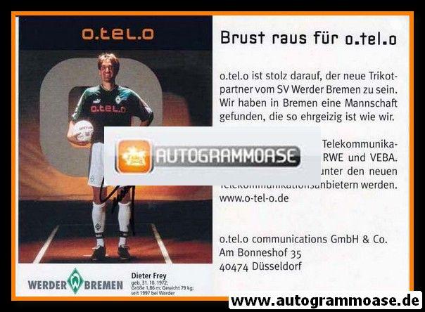 Autogramm Fussball   SV Werder Bremen   1997 schwarz   Dieter FREY