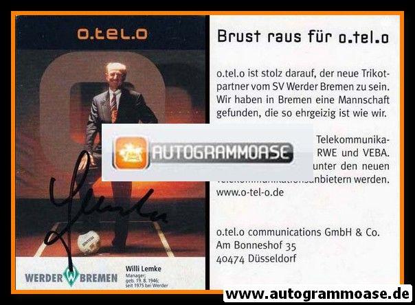 Autogramm Fussball   SV Werder Bremen   1997 schwarz   Willi LEMKE