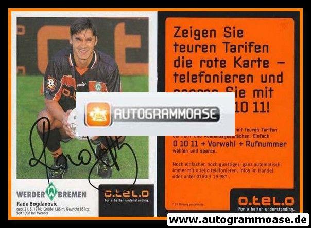 Autogramm Fussball | SV Werder Bremen | 1998 | Rade BOGDANOVIC