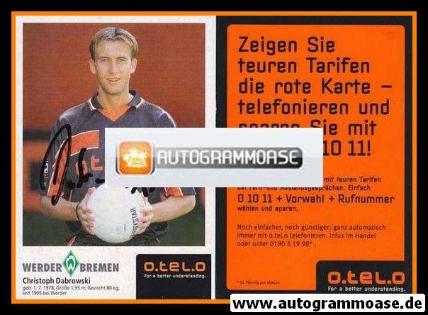 Autogramm Fussball | SV Werder Bremen | 1998 | Christoph DABROWSKI