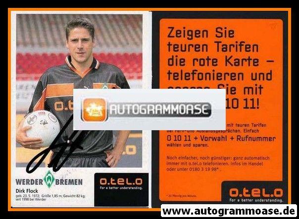 Autogramm Fussball   SV Werder Bremen   1998   Dirk FLOCK