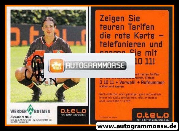 Autogramm Fussball | SV Werder Bremen | 1998 | Alexander NOURI