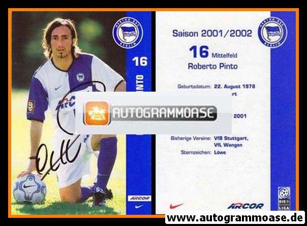 Autogramm Fussball | Hertha BSC Berlin | 2001 Arcor | Roberto PINTO