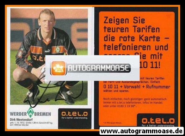 Autogramm Fussball | SV Werder Bremen | 1998 | Dirk WEETENDORF