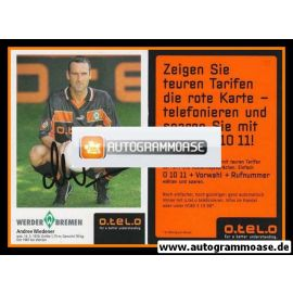 Autogramm Fussball   SV Werder Bremen   1998   Andree WIEDENER