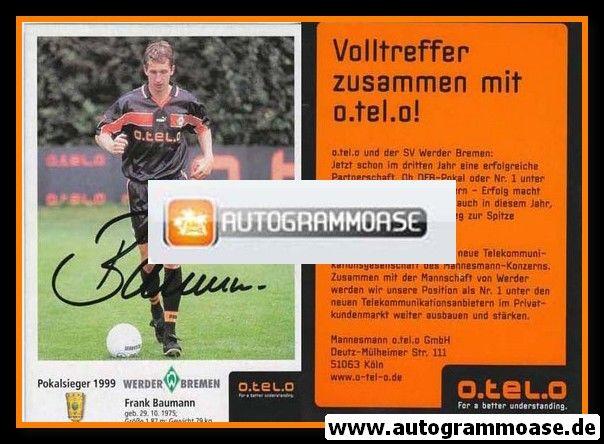 Autogramm Fussball | SV Werder Bremen | 1999 o.tel.o | Frank BAUMANN