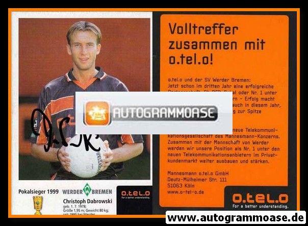 Autogramm Fussball | SV Werder Bremen | 1999 o.tel.o | Christoph DABROWSKI