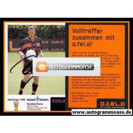 Autogramm Fussball | SV Werder Bremen | 1999 o.tel.o | Bernhard TRARES