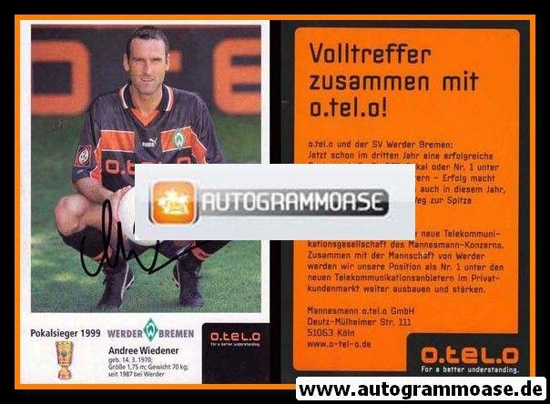 Autogramm Fussball | SV Werder Bremen | 1999 o.tel.o | Andree WIEDENER
