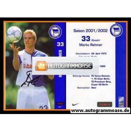Autogramm Fussball | Hertha BSC Berlin | 2001 o.tel.o | Marko REHMER