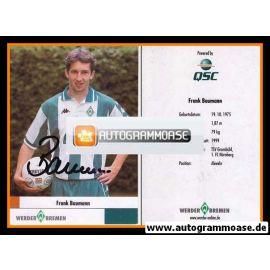 Autogramm Fussball | SV Werder Bremen | 2000 | Frank BAUMANN