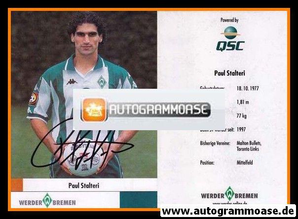 Autogramm Fussball   SV Werder Bremen   2000   Paul STALTERI