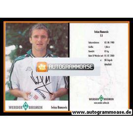 Autogramm Fussball | SV Werder Bremen | 2001 | Ivica BANOVIC