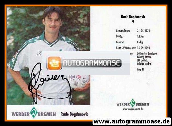 Autogramm Fussball | SV Werder Bremen | 2001 | Rade BOGDANOVIC