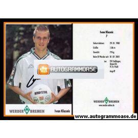 Autogramm Fussball | SV Werder Bremen | 2001 | Ivan KLASNIC