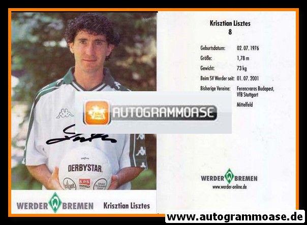 Autogramm Fussball   SV Werder Bremen   2001   Krisztian LISZTES